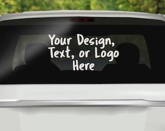 Custom Window Decal Etsy - Custom vehicle window decals