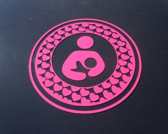 Breastfeeding Decal with hearts
