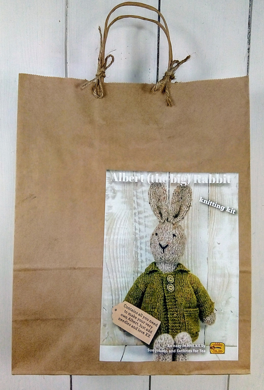 Albert groß Kaninchen stricken Kit machen Sie Ihre ganz