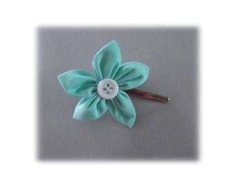 GREEN WATER BUBBLE FLOWER ALLIGATOR HAIR CLIP