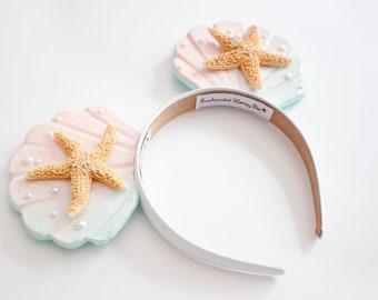 Mermaid Mouse Ears / Mermaid Headband / The Little Mermaid / Mermaid Theme Party / Disney Ears / Disneyland Ears / Under the sea / Starfish