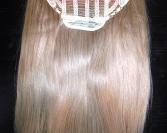 """26"""" 100% Russian Remy Human Hair One Piece Half Head Wig Clip In Hair Extension Premium Quality"""