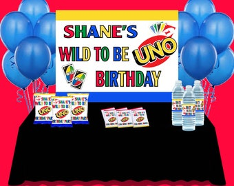 PRINTED & SHIPPED  UNO First Birthday Party Theme