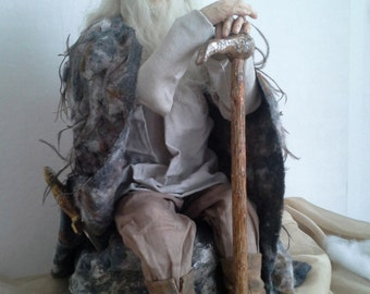 Caractéristique de la poupée art doll poupée autoriale intérieur Doll «Merlin»