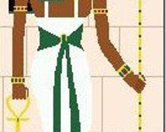 Needlepoint or Cross Stitch Pattern Design Chart - Egyptian Cleopatra