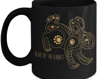 Year of the Rabbit, Chinese New Year, Chinese Zodiac, Chinese Year of the Rabbit Coffee Mug