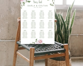 Seating Chart - Vintage Rose (Style 13846)