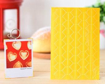 3 Sheets 306pcs,Yellow PVC Photo Corners Stickers, Scrapbooking Embellishment, Journal Stickers, Photo Album, Diary Deco, Self-Adhesive