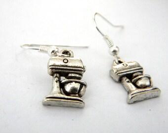 Silver Mixer Earrings Dangle Earrings