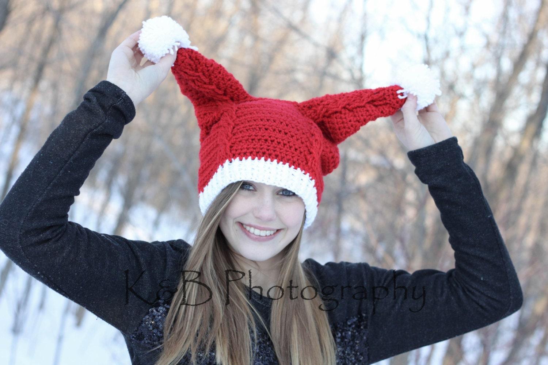 Penny\'s Santa Hat Crochet PDF Pattern Instant Download