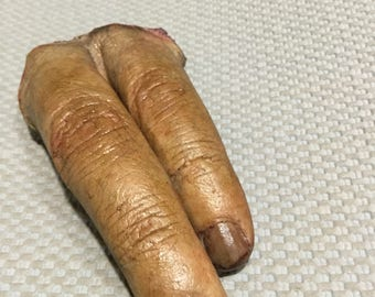 Latex severed fingers prop