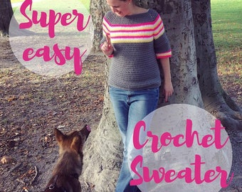 Tutorial Super Easy Crochet Sweater (english with pics and explanations)