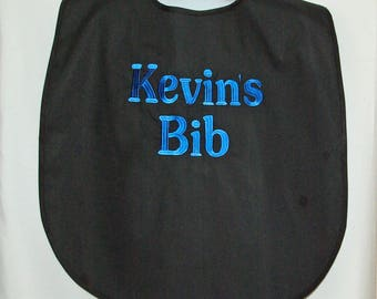 Extra Large, Custom Funny Adult Bib, Canvas, Clothing Cover Up Protector, No Shipping Fee, Ready To Ship TODAY AGFT 507