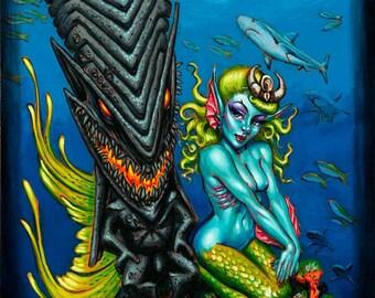 Dark Kanaloa Art Print