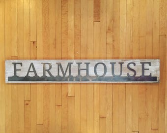 Wood and Metal Sign - Farmhouse