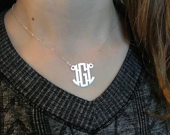 Monogram Necklace | Personalized Monogram | Initial Necklace | Monogram Jewelry | Personalized Jewelry | Custom Monogram | Gift for Her