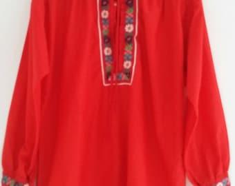 vintage cotton peasant blouse
