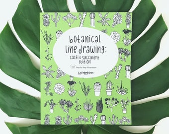 LIMITED EDITION Botanical Line Drawing: Cactus & Succulent Edition - Paperback (Signed)