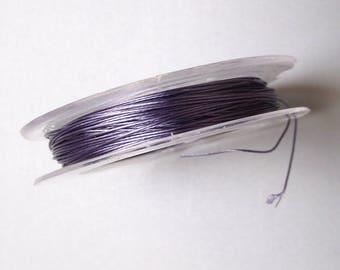 10 meters of 0.38 mm light purple cable wire.