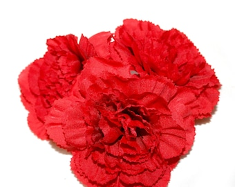 3 Red Carnations