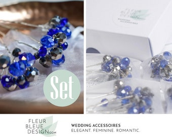 something blue | hair pins blue | blue wedding | bridal party gift