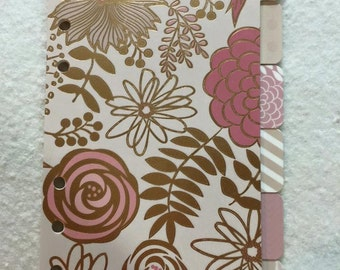 Personal Planner Dividers - Pink & Gold