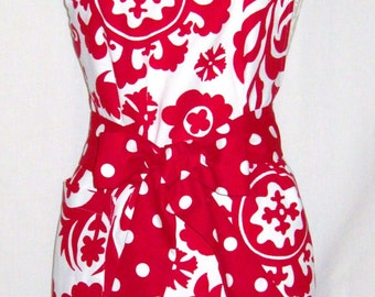 Katie Apron by SF Bay Aprons  Color:Red