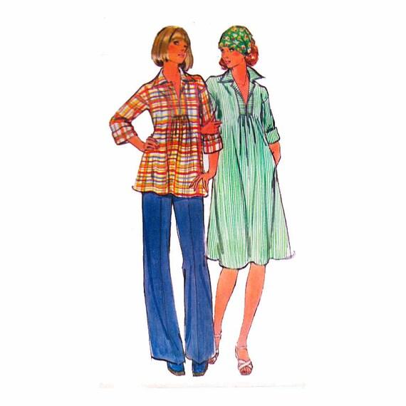 Damen Umstandsmode Kleid Tunika Bluse und gerades Bein Hose
