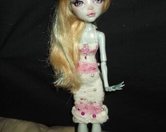 Ooak Custom repainted Monster High Lagoona doll