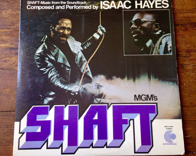 1971 Shaft Double Record Album, ENS-2-5002. Isaac Hayes. VG+ Sleeve, NM Record. Enterprise Records