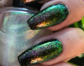 Dragons Flight chameleon topper nail polish