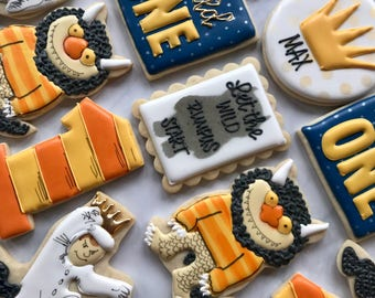 2 Dozen Where The Wild Things Are Sugar Cookies