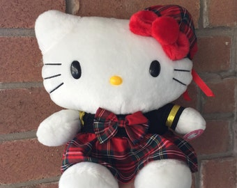 1998 Hello Kitty Plush In Plaid