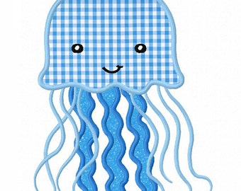 Jellyfish Applique Machine Embroidery Design NO:0038