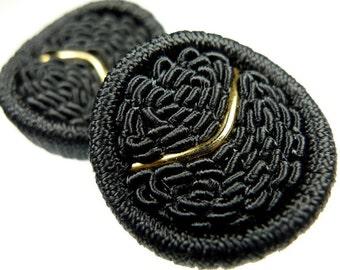 Buttons, grey thread 2pcs