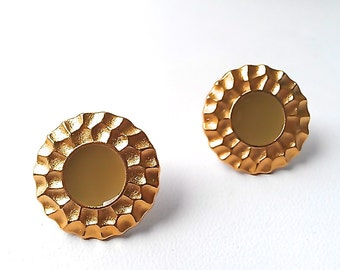 Minimalist Stud Earrings in Matte Gold & Pastel. Avail. in Mint, Taupe, and Olive. FAST Shipping w/Tracking for US Buyers.