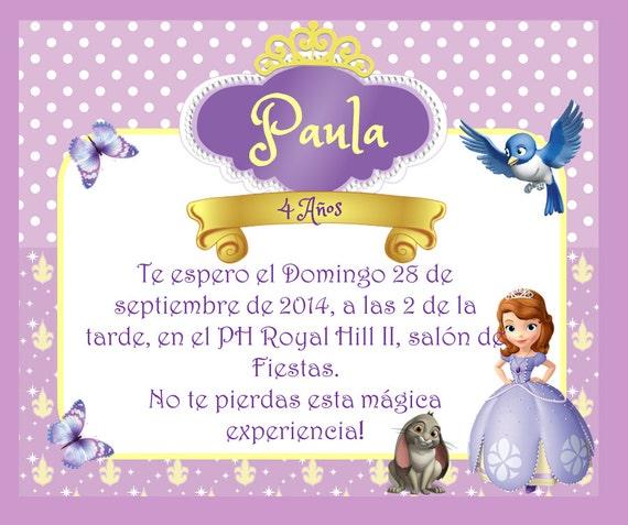 Tarjeta de cumpleaños PRINCESITA SOFIA edit