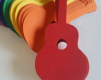 Guitar Die Cut Outs ( Scrap Booking, Embellishments, Decoupage, Party Decoration )