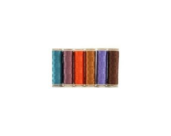 WonderFil InvisaFil Thread Set B009 - Six Spools of 400m 100wt Cottonized Polyester