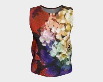 Womens Tops for Women Sleeveless Tank Top Summer Blouse Loose Tank Tops Floral Top Summer Tanks Summer Shirt Floral Tops Flower Tops for Her