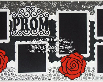Scrapbook Page Kit Prom High School 2 page Scrapbook Layout 047