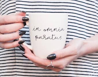 Gilmore Girls in omnia paratus coffee mug, life and death brigade, gilmore girls mug, gilmore girls quotes, Stars Hollow mug, gift