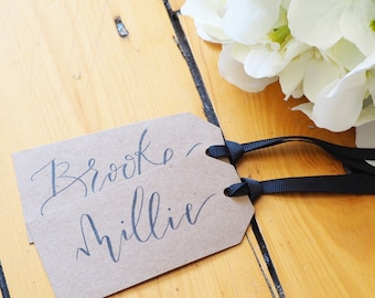 Custom Gift Tags | Kraft Style | Modern Calligraphy