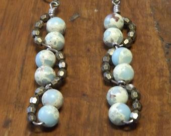 Serpentine twist earrings