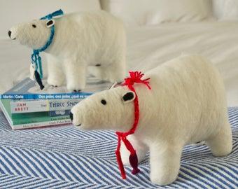 Organic Wool Felt Polar Bear Toy