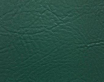 """Forest Green Vinyl Fabric Faux Leather Pleather Upholstery 54"""" Wide By the Yard"""