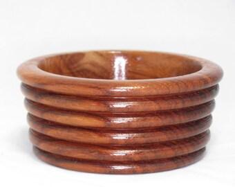 """Hand-Turned 4-1/4"""" x 2"""" Wood Bowl - Padauk"""