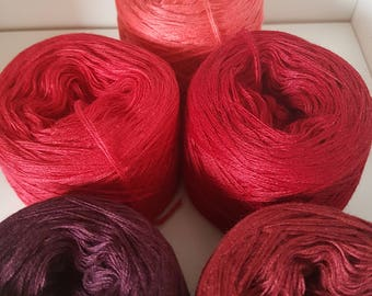 5 x Zwergenbobbel lace yarn knit crochet handmade