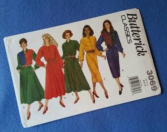 Uncut Butterick Classics Vintage Sewing Pattern 3069 - Misses'/Misses' Petite Dress - sizes 6 8 10