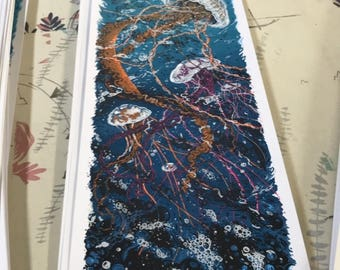 "Seabeast III 10"" x 30"" Silkscreen Print - Limited Edition (morning Edition)"